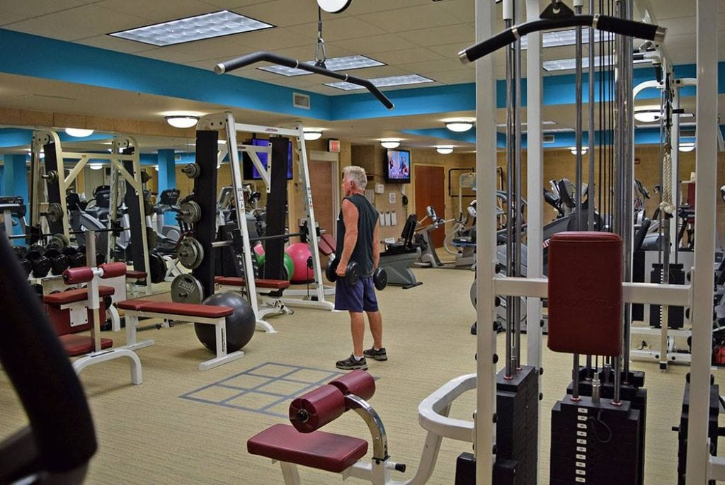 Gym at Pleasant View Retirement Village