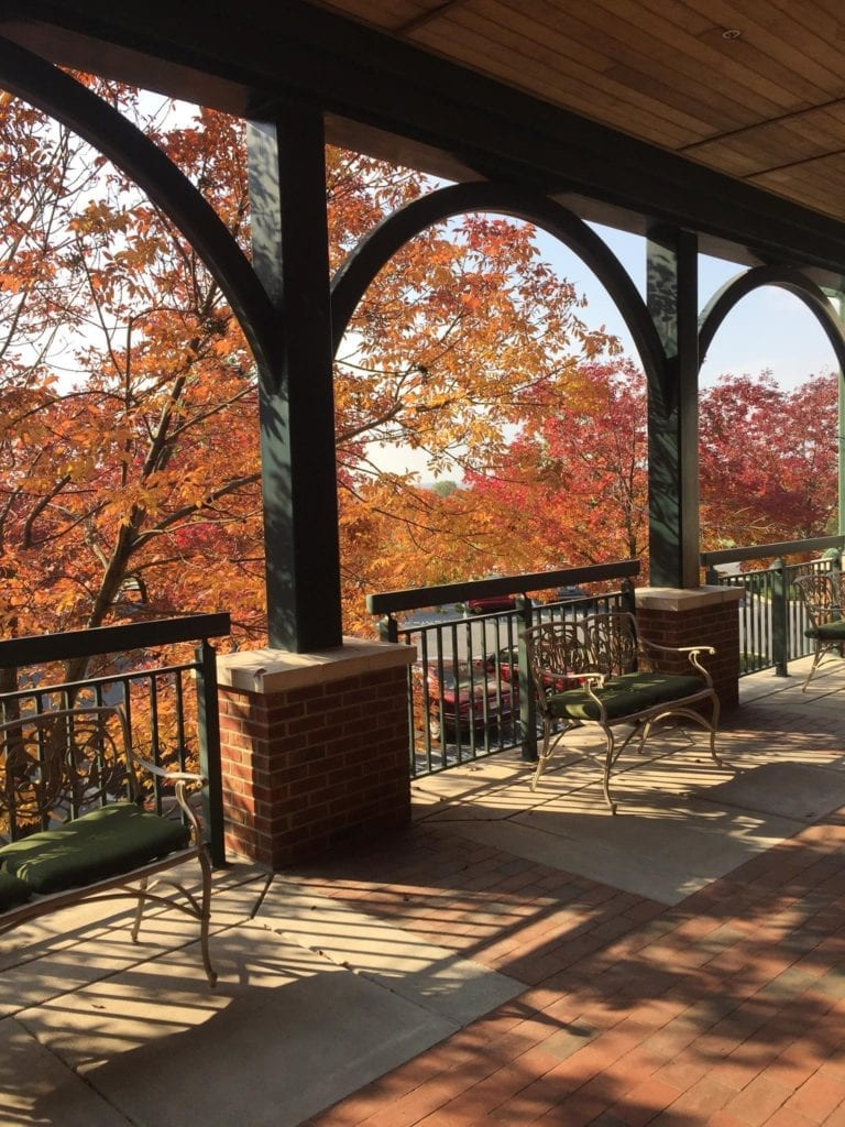 Pleasant View Retirement porch