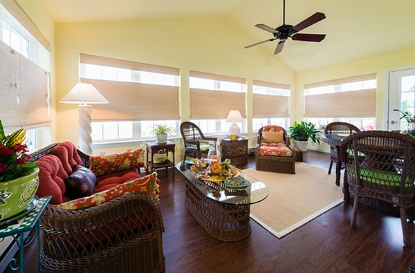 Sunroom example at Calvary Homes community
