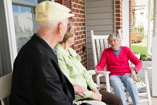 Conversation at Calvary Homes retirement