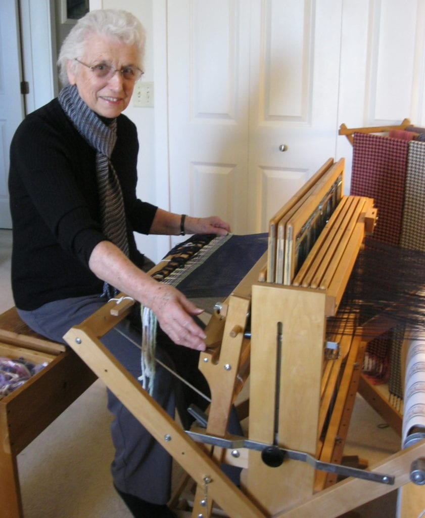 Weaving at Fairmount Homes retirement community