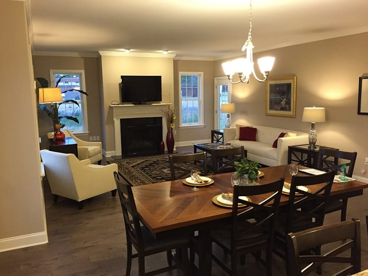 Farmstead Village Retirement living room example