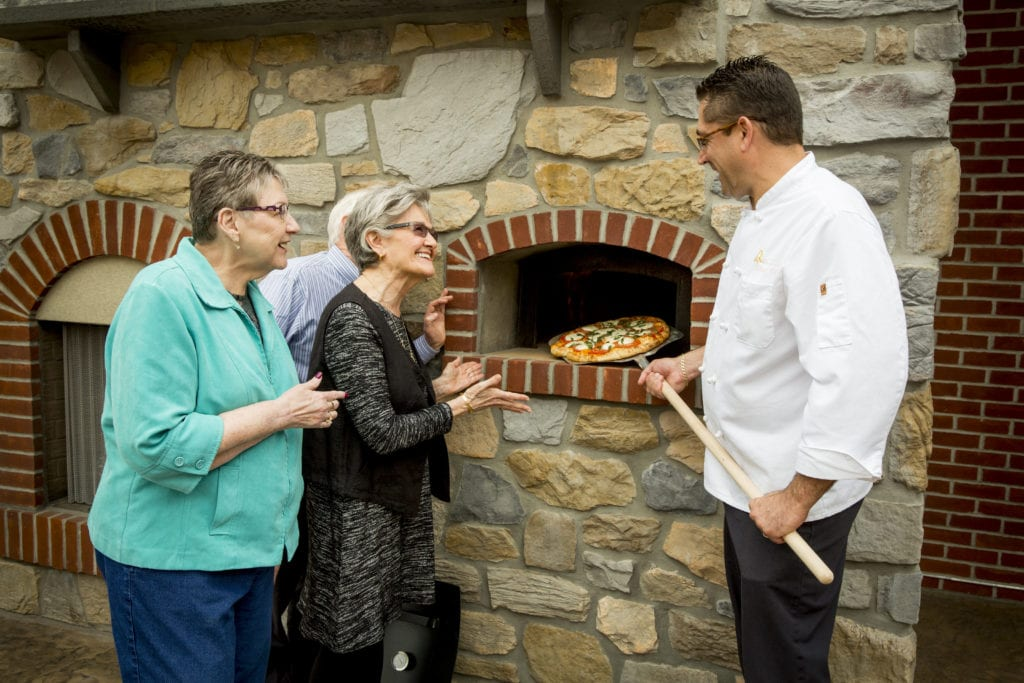 Pizza cooking at Quarryville retirement