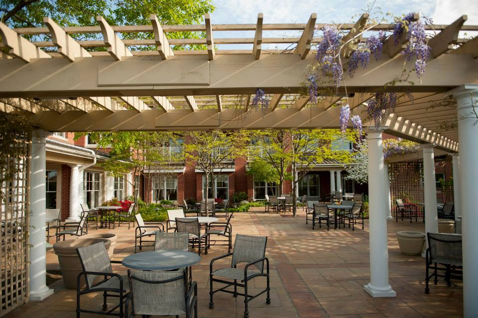 Woodcrest Villa retirement patio