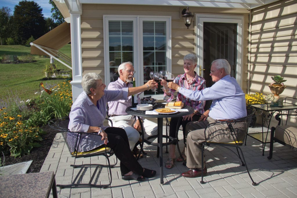 Evening dinner at Masonic Village retirement village
